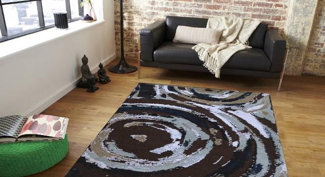 "Fabia Carpet (Brown, 122 x 183 cm  (48"" x 72"") Carpet Size) by Urban Ladder - Front View Design 1 - 308217"