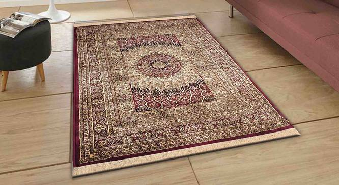 "Kambiz Carpet (Red, 122 x 183 cm  (48"" x 72"") Carpet Size) by Urban Ladder - Front View Design 1 - 308529"