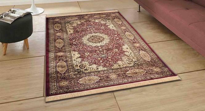 "Mehrak Carpet (Red, 152 x 213 cm  (60"" x 84"") Carpet Size) by Urban Ladder - Front View Design 1 - 308597"