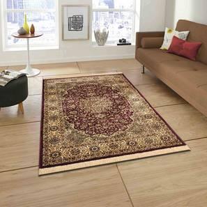 "Pirouz Carpet (Red, 122 x 183 cm  (48"" x 72"") Carpet Size) by Urban Ladder - Front View Design 1 - 308619"