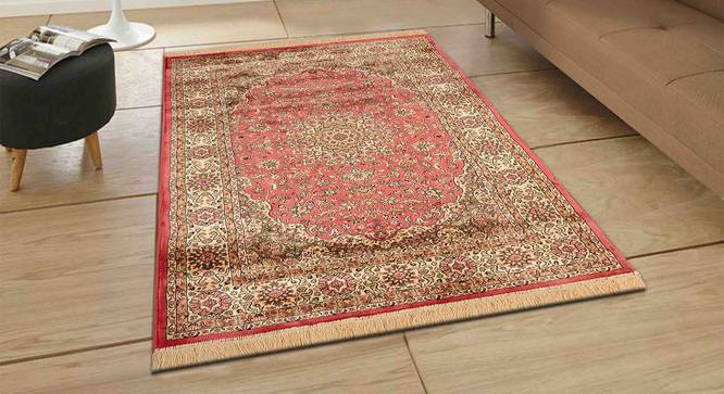 "Pirouz Carpet (Orange, 122 x 183 cm  (48"" x 72"") Carpet Size) by Urban Ladder - Front View Design 1 - 308628"