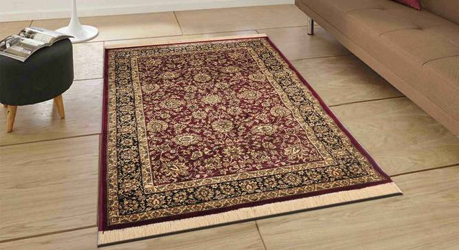 "Sarmad Carpet (Red, 122 x 183 cm  (48"" x 72"") Carpet Size) by Urban Ladder - Front View Design 1 - 308673"