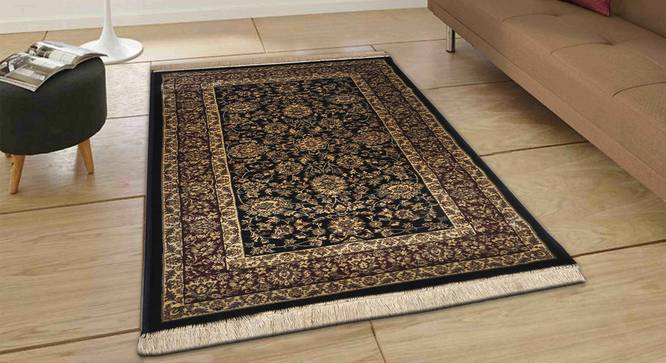 "Sarmad Carpet (Black, 183 x 274 cm  (72"" x 108"") Carpet Size) by Urban Ladder - Front View Design 1 - 308703"