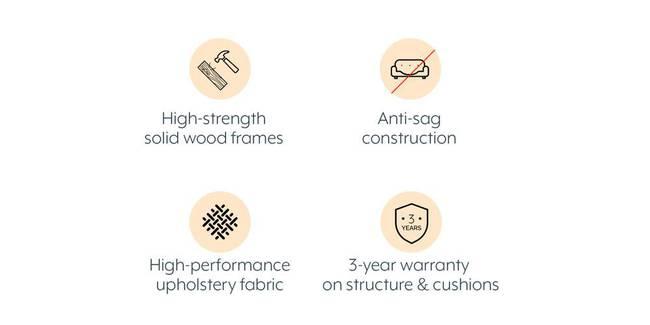 Esquel Sofa (Mocha Brown) (1-seater Custom Set - Sofas, None Standard Set - Sofas, Mocha, Fabric Sofa Material, Regular Sofa Size, Regular Sofa Type)