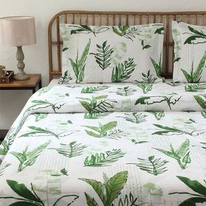 Vanam Duvet Cover (Green, Single Size) by Urban Ladder - Front View Design 1 - 308984