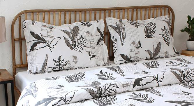 Vanam Duvet Cover (Grey, Single Size) by Urban Ladder - Front View Design 1 - 308988