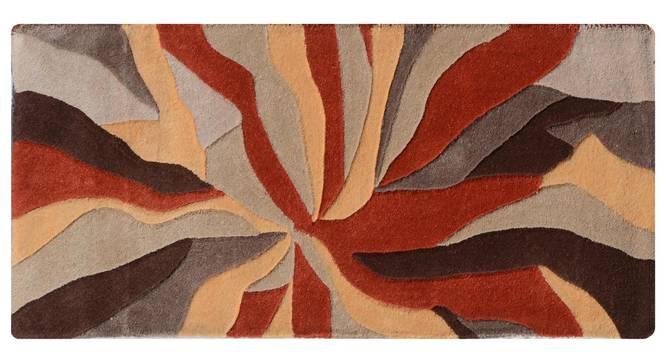 """Carmela Table Runner (Orange, 56 x 140 cm (22"""" x 55"""") Table Linen Size) by Urban Ladder - Design 1 Details - 309117"""