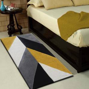 """Monte Table Runner (Grey & Black, 56 x 140 cm (22"""" x 55"""") Table Linen Size) by Urban Ladder - Front View Design 1 - 309139"""