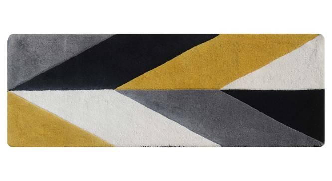"Monte Table Runner (Grey & Black, 56 x 140 cm (22"" x 55"") Table Linen Size) by Urban Ladder - Design 1 Details - 309140"