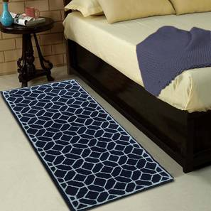 """Elena Table Runner (Blue, 56 x 140 cm (22"""" x 55"""") Table Linen Size) by Urban Ladder - Front View Design 1 - 309188"""