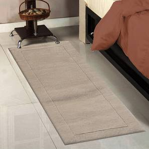 """Leora Table Runner (Beige, 56 x 140 cm (22"""" x 55"""") Table Linen Size) by Urban Ladder - Front View Design 1 - 309224"""