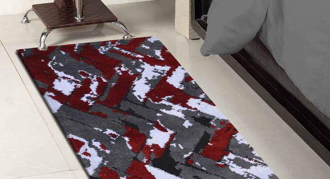 """Basilio Table Runner (Red, 56 x 140 cm (22"""" x 55"""") Table Linen Size) by Urban Ladder - Front View Design 1 - 309314"""