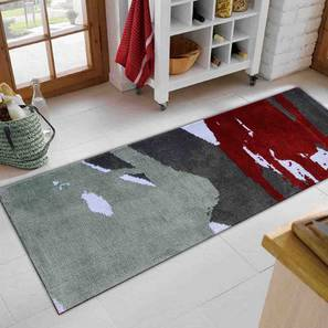 """Domenico Table Runner (Red, 56 x 140 cm (22"""" x 55"""") Table Linen Size) by Urban Ladder - Front View Design 1 - 309337"""