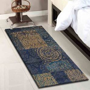 "Almano Table Runner (Blue, 56 x 140 cm (22"" x 55"") Table Linen Size) by Urban Ladder - Front View Design 1 - 309349"