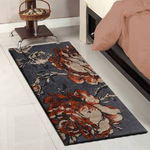 """Rosa Table Runner (Orange, 56 x 140 cm (22"""" x 55"""") Table Linen Size) by Urban Ladder - Front View Design 1 - 309361"""
