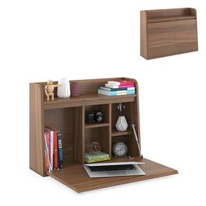 Grisham Wall Mounted Study Table (Amber Walnut Finish) by Urban Ladder - Design 1 Full View - 309373