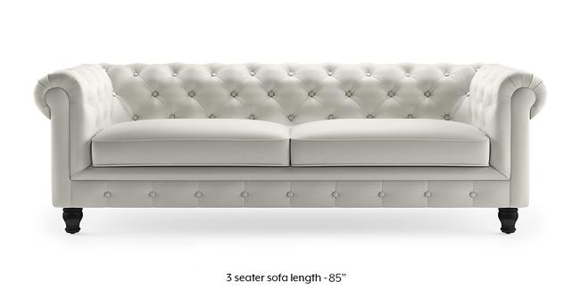 Winchester Half Leather Sofa (White Italian Leather) (White, 1-seater Custom Set - Sofas, None Standard Set - Sofas, Regular Sofa Size, Regular Sofa Type, Leather Sofa Material)