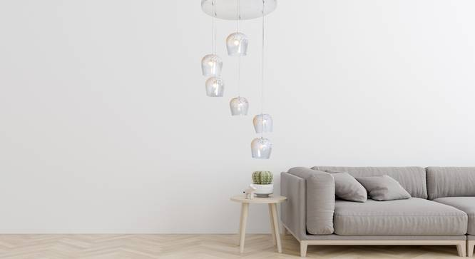 Frost Pendant Cluster (Clear) by Urban Ladder - Design 1 Half View - 310018