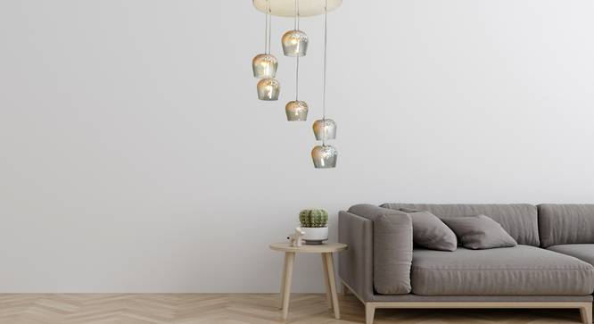 Frost Pendant Cluster (Clear) by Urban Ladder - Design 1 Semi Side View - 310019