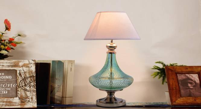 Blue Ocean Table Lamp (Green, White Shade Colour, Cotton Shade Material) by Urban Ladder - Half View Design 1 -