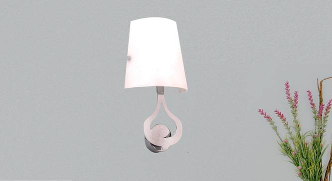 Carmack Wall Light (Chrome) by Urban Ladder - Design 1 Semi Side View -