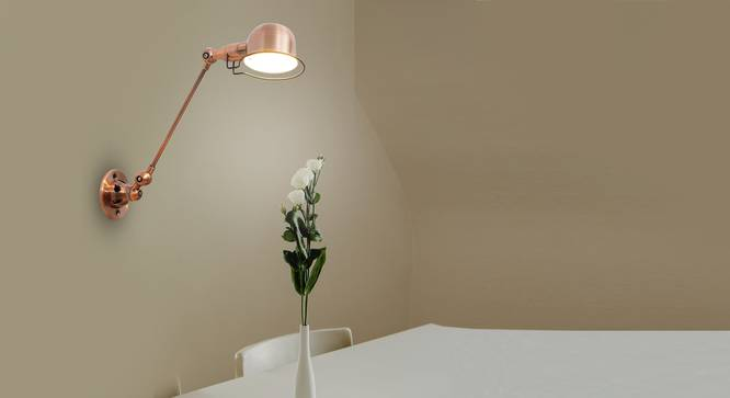 Laurie Wall Lamp (Copper) by Urban Ladder - Half View Design 1 -