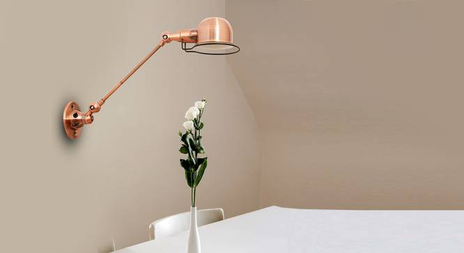 Laurie Wall Lamp (Copper) by Urban Ladder - Design 1 Semi Side View -
