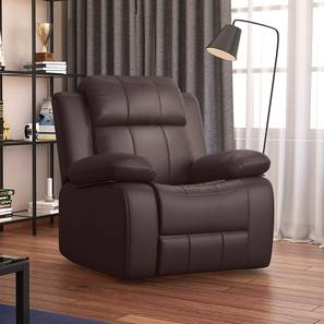 Griffin Recliner (One Seater, Dark Chocolate Leatherette) by Urban Ladder - Design 1 Full View - 310940