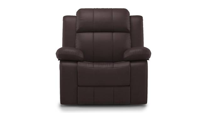 Griffin Recliner (One Seater, Dark Chocolate Leatherette) by Urban Ladder - Front View Design 1 - 310941