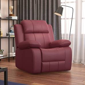 Griffin Recliner (One Seater, Burgundy Leatherette) by Urban Ladder - Design 1 - 310951