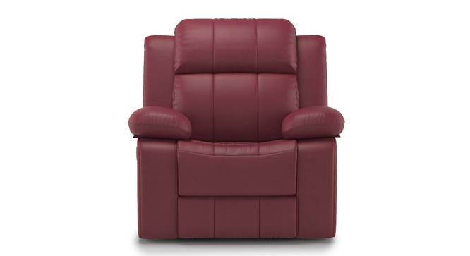 Griffin Recliner (One Seater, Burgundy Leatherette) by Urban Ladder - Front View Design 1 - 310953