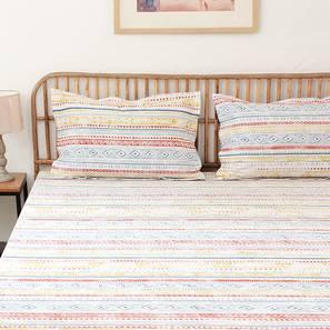 Meghwal Bedsheet Set (Blue, Single Size) by Urban Ladder - Design 1 Full View - 310964