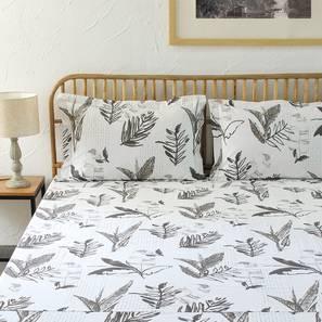 Vanam Bedsheet Set (Grey, Single Size) by Urban Ladder - Design 1 Full View - 311012