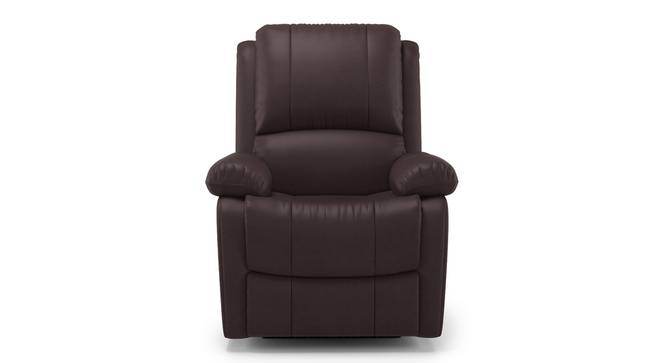 Lebowski Recliner (One Seater, Dark Chocolate Leatherette) by Urban Ladder - Front View Design 1 - 311040