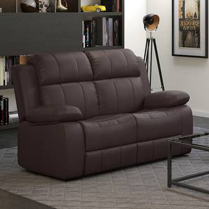 Griffin Recliner (Two Seater, Dark Chocolate Leatherette) by Urban Ladder - Full View Design 1 - 333794