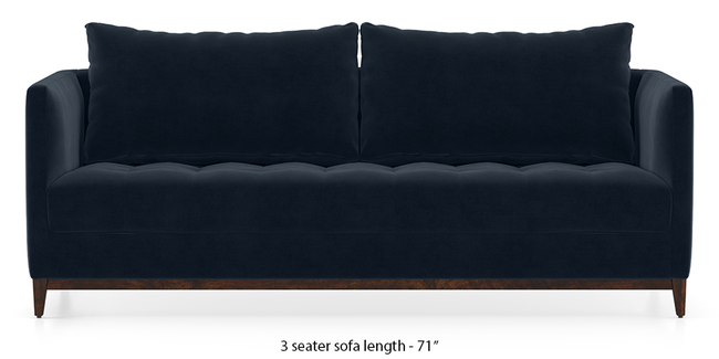 Florence Compact Sofa (Sea Port Blue Velvet) (1-seater Custom Set - Sofas, None Standard Set - Sofas, Fabric Sofa Material, Regular Sofa Size, Regular Sofa Type, Sea Port Blue Velvet)