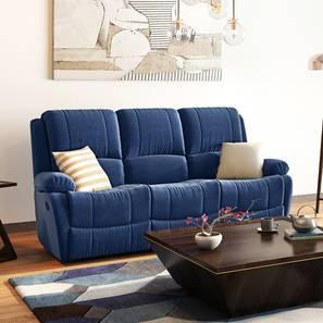 Lebowski Recliner (Three Seater, Cobalt Fabric) by Urban Ladder - Full View Design 1 - 333763