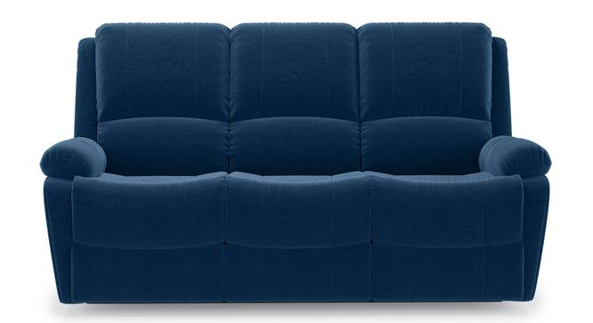 Lebowski Recliner (Three Seater, Cobalt Fabric) by Urban Ladder - Front View Design 1 - 311993
