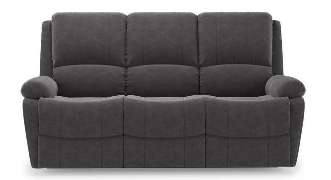Lebowski Recliner (Three Seater, Smoke Fabric) by Urban Ladder - Front View Design 1 - 312001