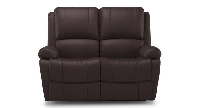 Lebowski Recliner (Two Seater, Dark Chocolate Leatherette) by Urban Ladder - Front View Design 1 - 312013