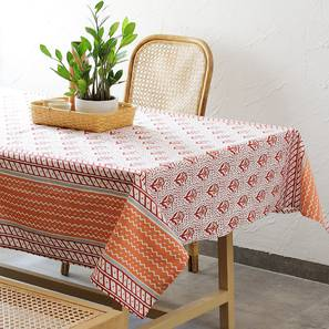 """Sarovar Table Cover (Red, 150 x 150 cm  (60"""" x 60"""") Size) by Urban Ladder - Front View Design 1 - 312107"""