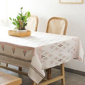 """Mrinaal Table Cover (Pink, 150 x 230 cm  (60"""" x 90"""") Size) by Urban Ladder - Front View Design 1 - 312131"""