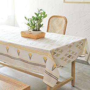 "Mrinaal Table Cover (Yellow, 150 x 230 cm  (60"" x 90"") Size) by Urban Ladder - Front View Design 1 - 312140"