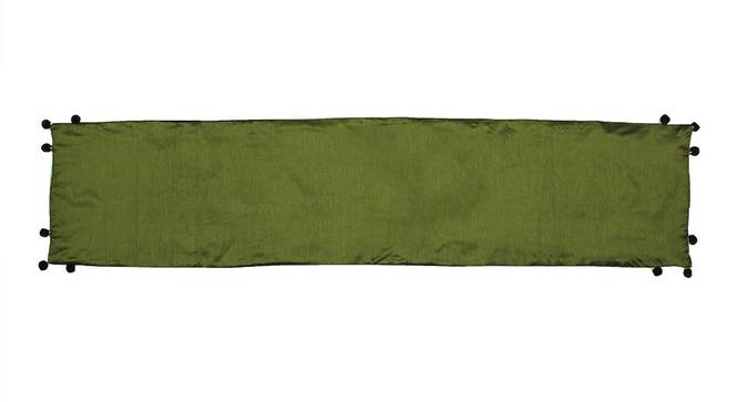 Hariya Table Runner (Green, Abstract Design) by Urban Ladder - Front View Design 1 - 312151