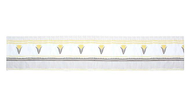 Mrinaal Table Runner (Yellow, Abstract Design) by Urban Ladder - Front View Design 1 - 312157
