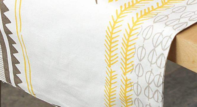 Mrinaal Table Runner (Yellow, Abstract Design) by Urban Ladder - Design 1 Close View - 312158