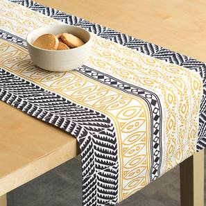 Nakshi Table Runner (Yellow, Abstract Design) by Urban Ladder - Front View Design 1 - 312163