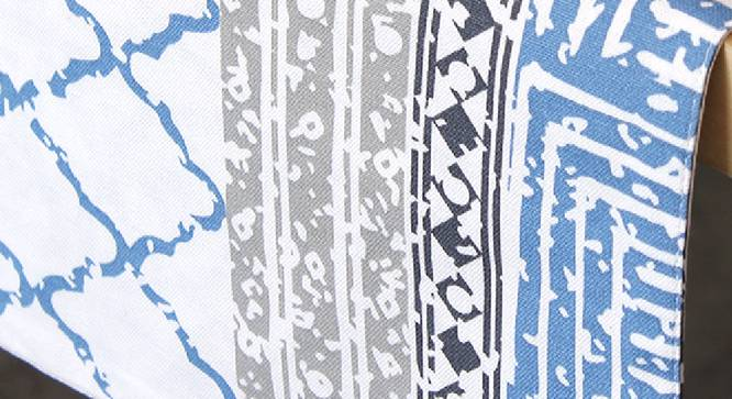 Nikrinta Table Runner (Blue, Abstract Design) by Urban Ladder - Design 1 Close View - 312170
