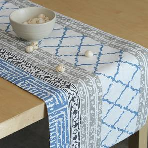 Nikrinta Table Runner (Blue, Abstract Design) by Urban Ladder - Front View Design 1 - 312169
