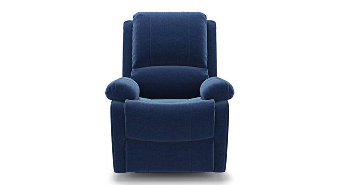 Lebowski Recliner (One Seater, Cobalt Fabric) by Urban Ladder - Front View Design 1 - 312213